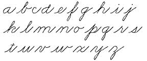 It'll give you an excellent opportunity to practice your cursive!