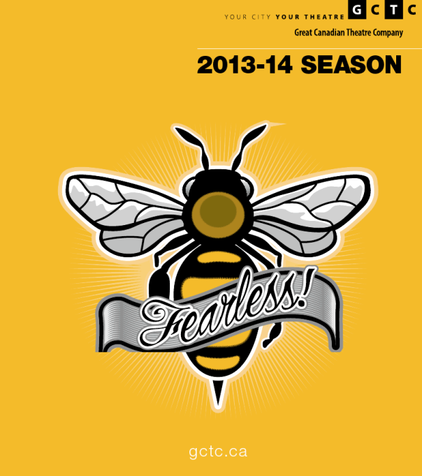 'Bee' Fearless.  It says Fearless..!  And there's a picture of a Bee on it..!