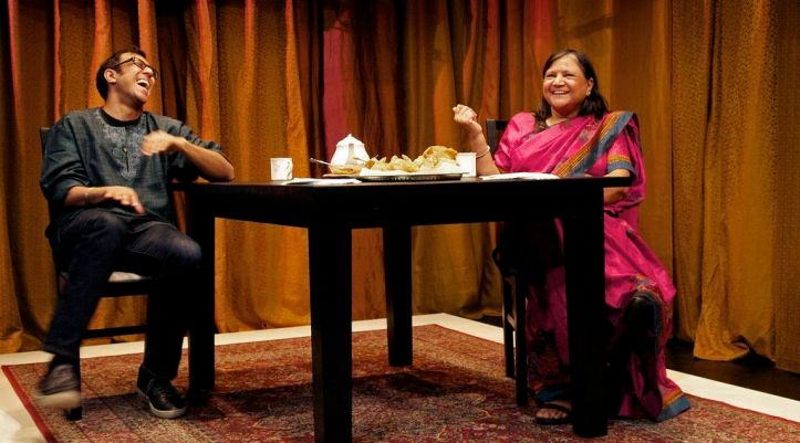 Ravi and Asha in A BRIMFUL OF ASHA