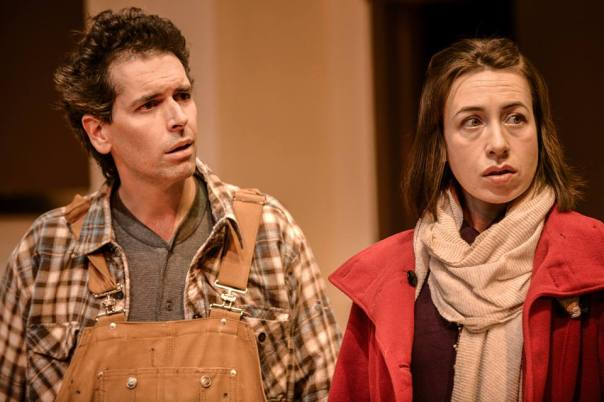 Tim Oberholzer as Ethan and Sarah Finn as Teresa in ETHAN CLAYMORE.  Photo by Andrew Alexander.