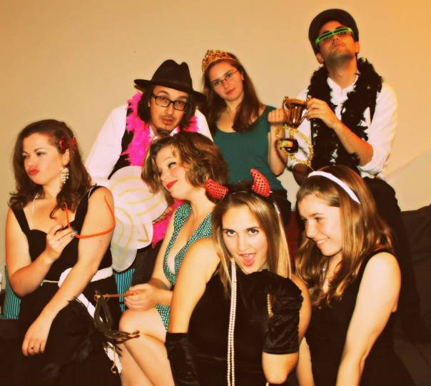 My first year Ottawa Theatre School class (minus Alex), during the happy, murder mystery times.