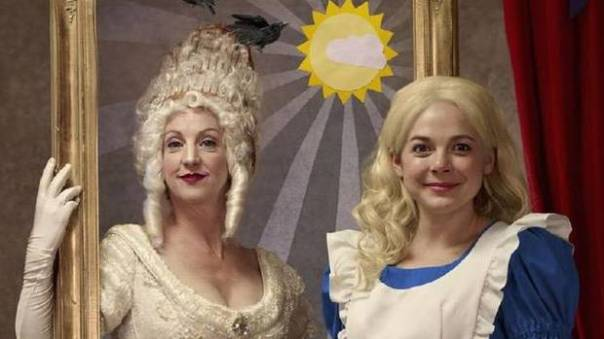 Lois Anderson and Natasha Greenblatt  in ALICE THROUGH THE LOOKING GLASS.