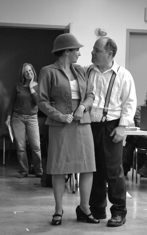 Venetia Lawless and Donnie Laflamme at rehearsal (with boss Lisa looking on). Pic by Jen Vawer.