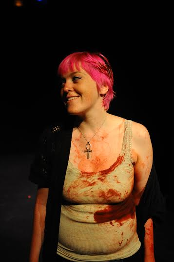 Caitlin Corbett in IMMOLATION (pic by Andrew Alexander)