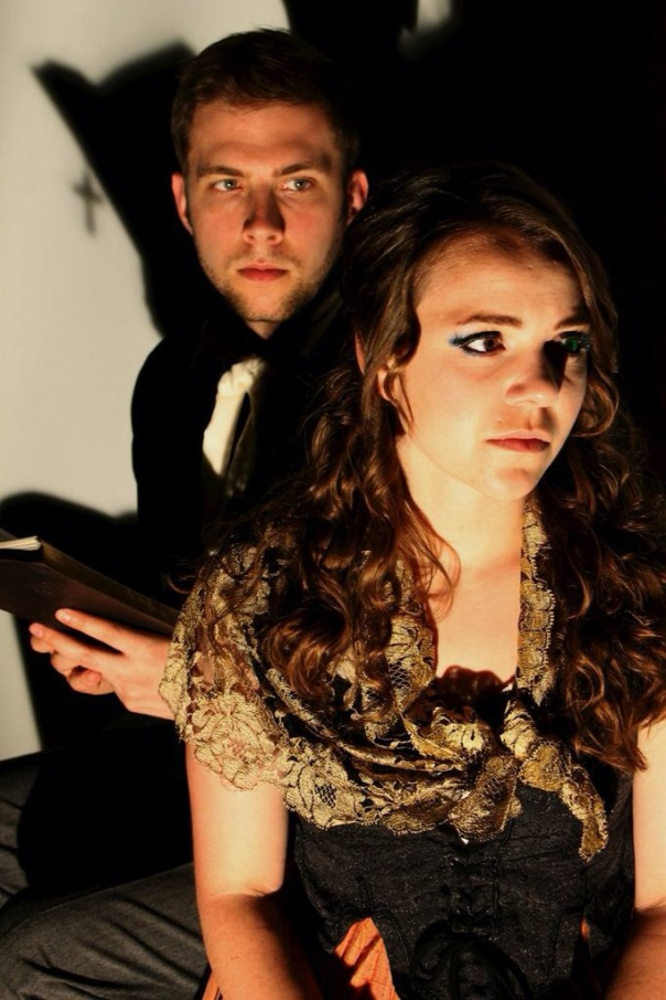 Sam McCarthy and Lauren Cauchy in KAVALIER'S KURIOSITIES (pix by KAthryn Reeves)