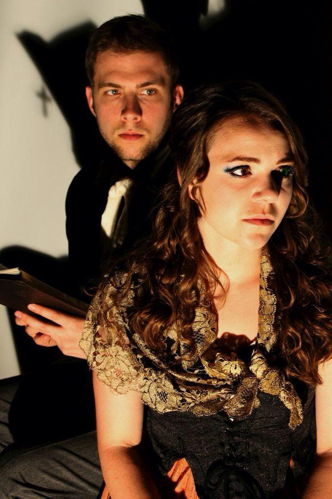 Sam McCarthy and Lauren Cauchy in KAVALIER'S KURIOSITIES (pix by KAthryn Reeves)