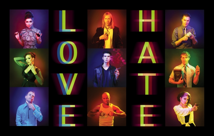 LOVE+HATE from the Peptides (image by Bonnie Findley)