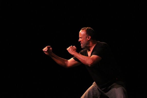 Bradley Spann in ME AND MY MONKEY (pic by Karen Spies)
