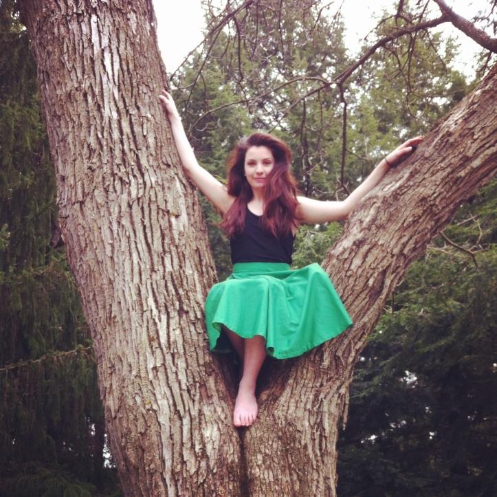 Tess McManus, sittin' in a tree.  Pic by Tom Benson.