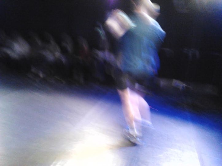 Actual action shot taken by Merav Dagan with my phone during the performance.  Keep yours charged for this one, gang!